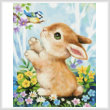 cross stitch pattern Bunny and Bird