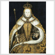 cross stitch pattern Coronation of Queen Elizabeth 1