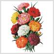 cross stitch pattern Carnations 3