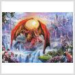 cross stitch pattern Kingdom with Dragons