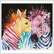 cross stitch pattern Mini Colourful Zebras