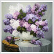cross stitch pattern Mini Lilac Romance