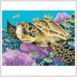 cross stitch pattern Mini Young Green Sea Turtle