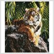 cross stitch pattern Mini Sumatran Tigress