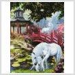 cross stitch pattern Unicorn Summer House (Crop)