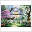 cross stitch pattern Victorian Evening