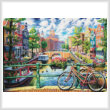 cross stitch pattern Amsterdam Canal (Large)