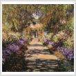 cross stitch pattern A Pathway in Monets Garden Giverny