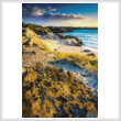 cross stitch pattern Evening Light on Uig Bay (Large)