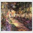 cross stitch pattern Garden Path at Giverny