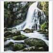 cross stitch pattern Gollinger Waterfall (Crop)