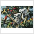 cross stitch pattern Koala Outback