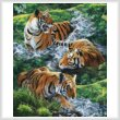 cross stitch pattern Tigers in Water (Large)