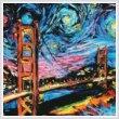 cross stitch pattern Van Gogh Never Saw Golden Gate (Large)