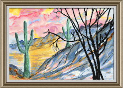 cross stitch pattern Arizona Evening