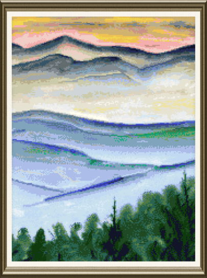 cross stitch pattern Blue Ridge