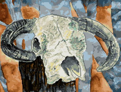 cross stitch pattern Cow Skull