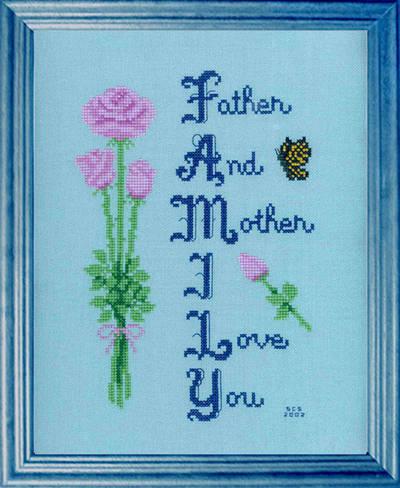 cross stitch pattern Family