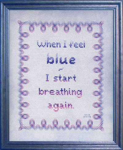 cross stitch pattern Feeling Blue