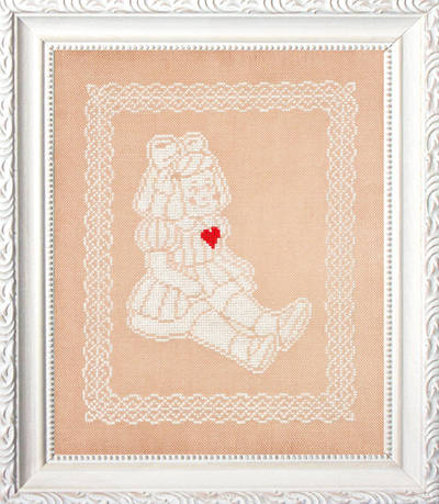 cross stitch pattern Lace Doll