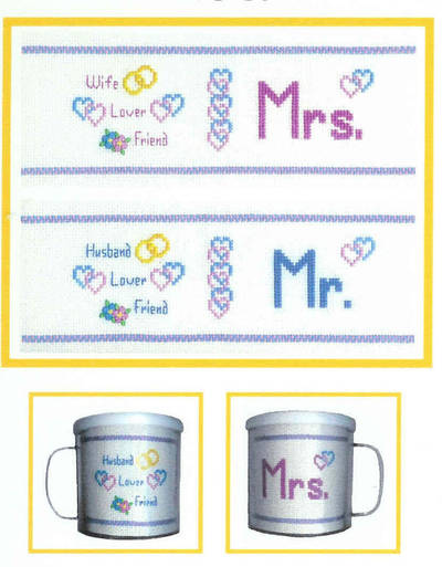 cross stitch pattern Love Mugs