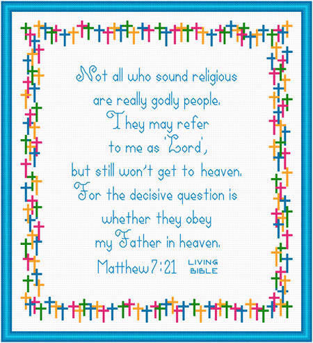 cross stitch pattern Not All Godly People Are