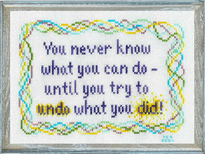 cross stitch pattern Undo What You Did