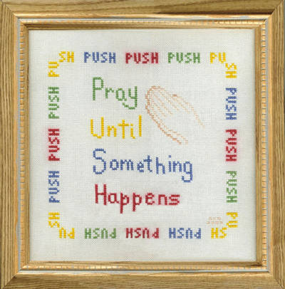 P U S H Cross Stitch Pattern Religious