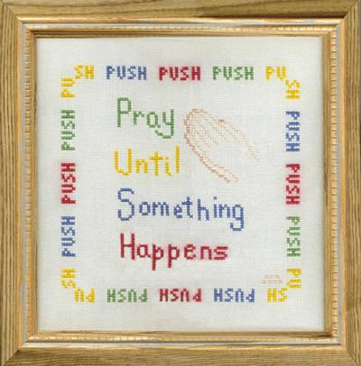 cross stitch pattern P - U - S - H