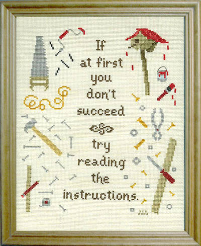 cross stitch pattern Try Reading the Instructions