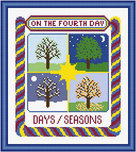 cross stitch pattern On The Fourth Day