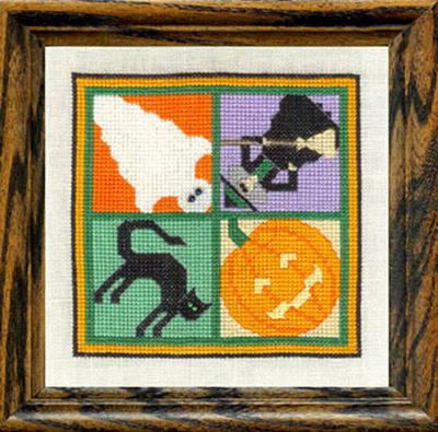 cross stitch pattern Halloween Any Witch Way