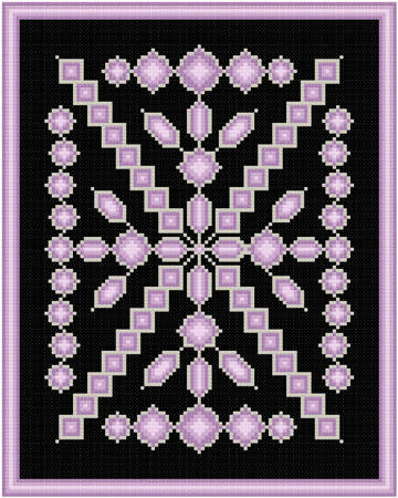 cross stitch pattern Amethyst and Silver
