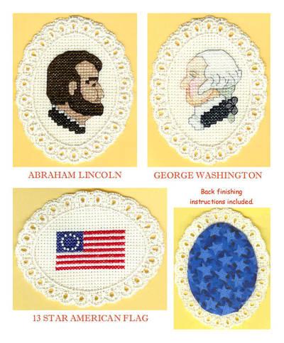 cross stitch pattern America's Past