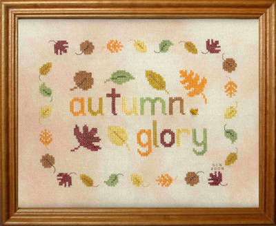 cross stitch pattern Autumn Glory