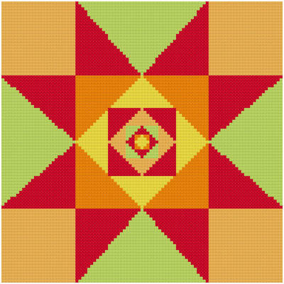 cross stitch pattern Aztec Star