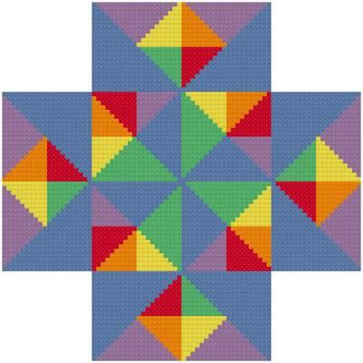 cross stitch pattern Building Blocks