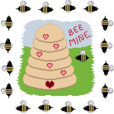 cross stitch pattern Bee Mine