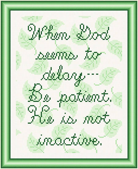 cross stitch pattern Be Patient