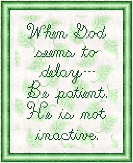 cross stitch pattern Be Patient