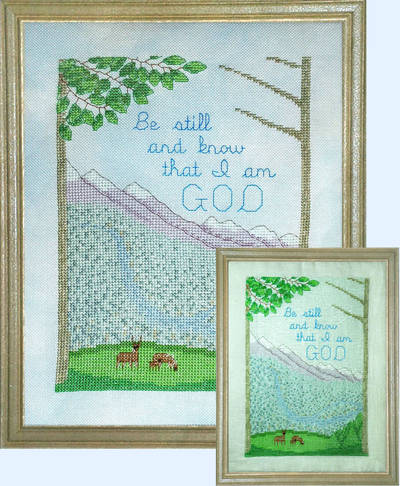 cross stitch pattern Be Still