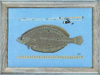 cross stitch pattern Catch of the Day