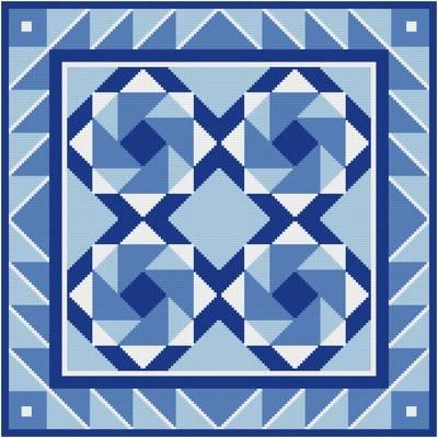 cross stitch pattern Center of Attention