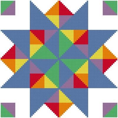 cross stitch pattern Crooked Path