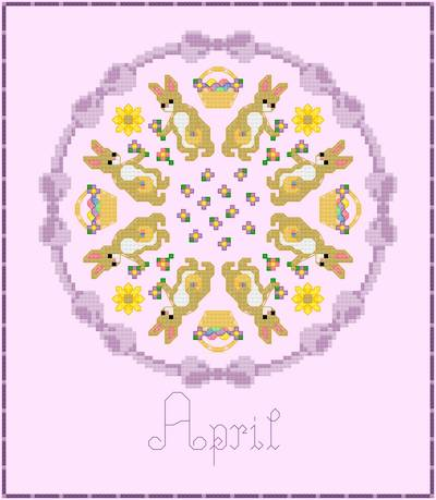 cross stitch pattern April - Easter Symbols