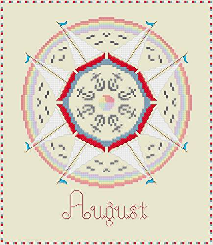 cross stitch pattern August - Summer Fun