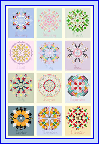 cross stitch pattern Calendar Quilt Instructions