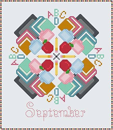 cross stitch pattern September - School Days