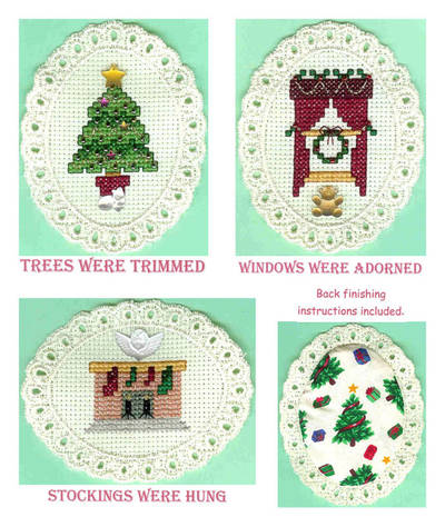 cross stitch pattern Decorating for the Holidays