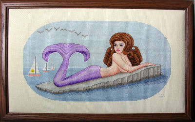 cross stitch pattern Sunbathing Mermaid - Estelle